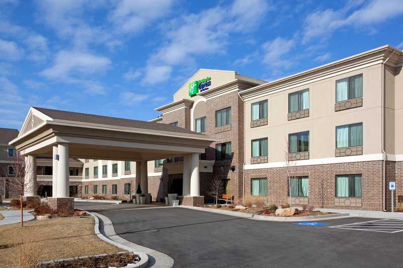 Holiday Inn Express & Suites Salt Lake City West Valley-Hotel Exterior with beautiful landscaping<br/>Image from Leonardo