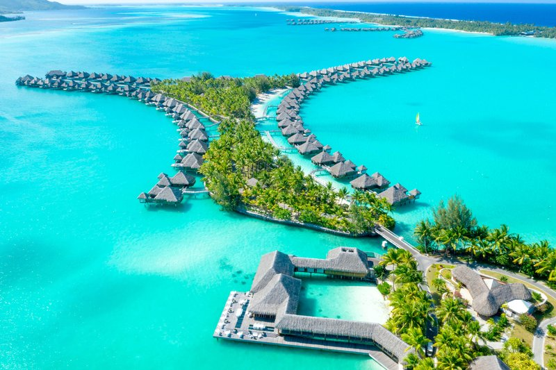 St Regis Resort Bora Bora - Resort Aerial View <br/>Image from Leonardo