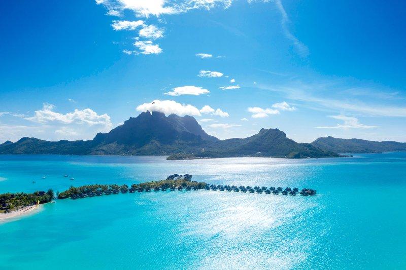 St Regis Resort Bora Bora - Aerial Resort <br/>Image from Leonardo