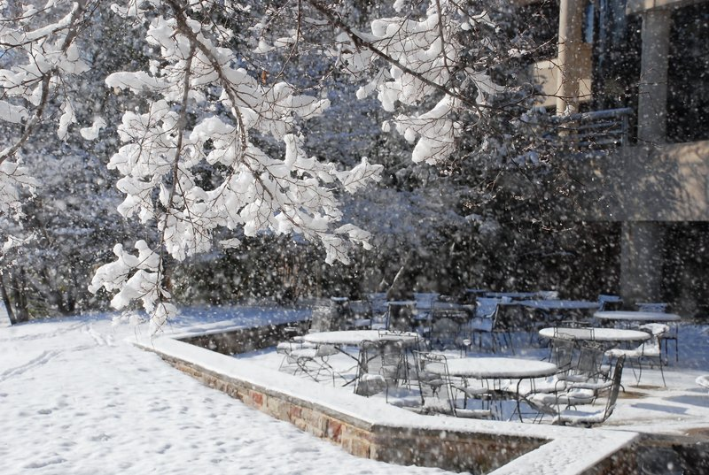 Holiday Inn Express Princeton Southeast-Snow covered patio<br/>Image from Leonardo