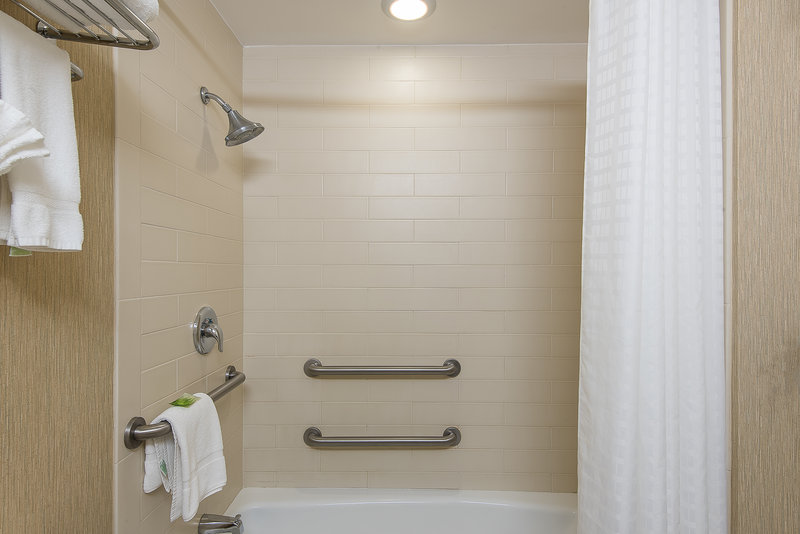 Holiday Inn Express Princeton Southeast-Guest Bathroom with Tub, Available in Select Rooms<br/>Image from Leonardo