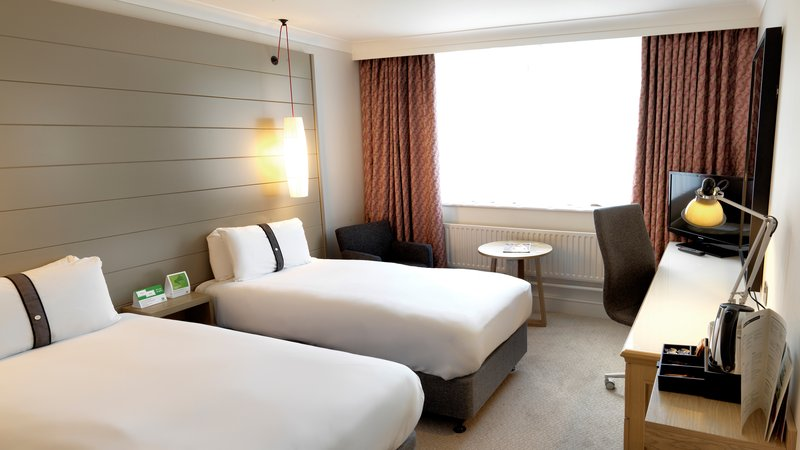 Holiday Inn Peterborough West-Twin bedded room at the Holiday Inn Peterborough West<br/>Image from Leonardo