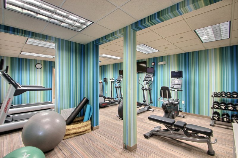 Holiday Inn Express & Suites Milwaukee Airport-Onsite Fitness Center at Milwaukee airport hotel<br/>Image from Leonardo