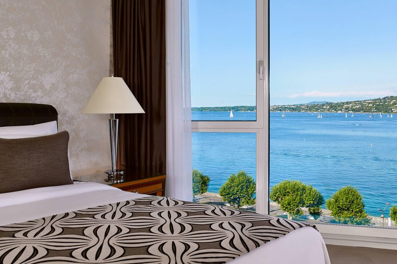 Hotel President Wilson; a Luxury Collection Hotel-Junior Suite - Bedroom with lake View<br/>Image from Leonardo