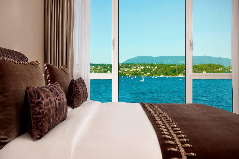 Hotel President Wilson; a Luxury Collection Hotel-Crown Suite - Bedroom with lake View<br/>Image from Leonardo