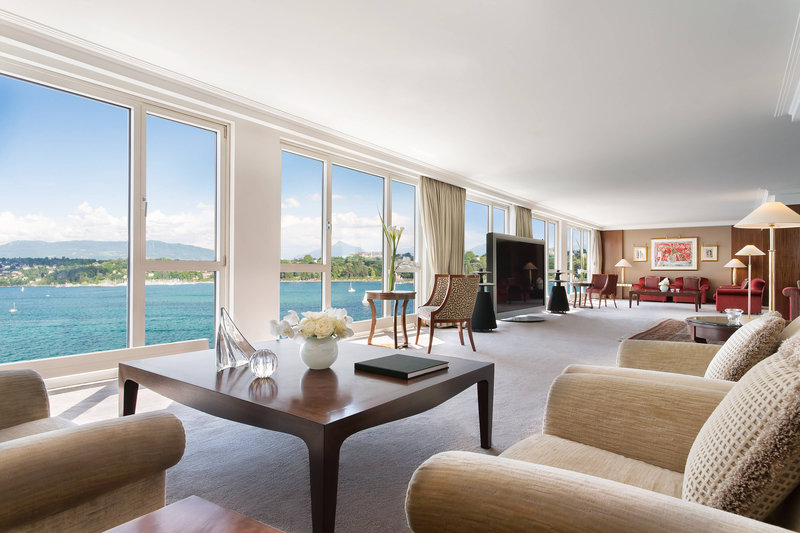 Hotel President Wilson; a Luxury Collection Hotel-Royal Penthouse Suite - Imperial Living Room Lake View<br/>Image from Leonardo