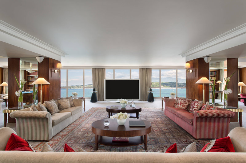 Hotel President Wilson; a Luxury Collection Hotel-Royal Penthouse Suite - Living Room<br/>Image from Leonardo