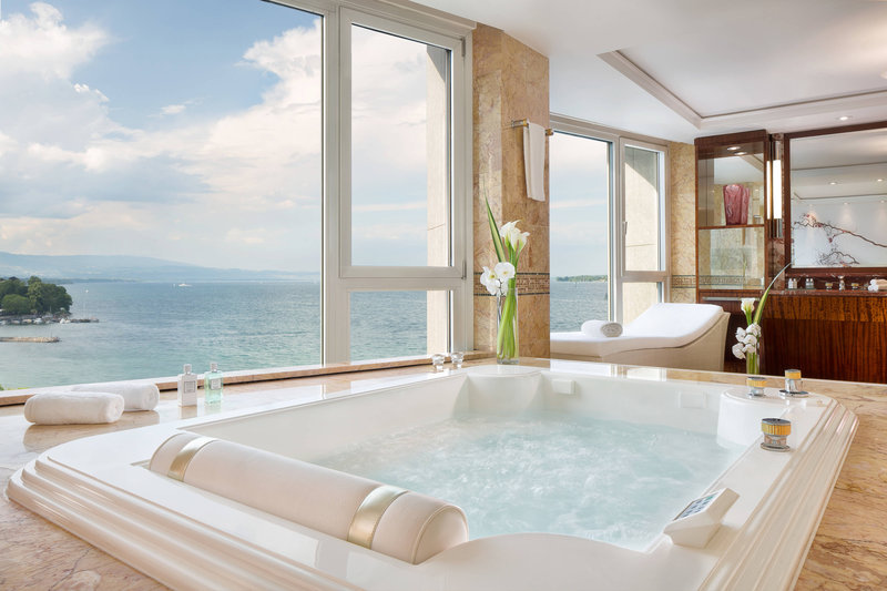 Hotel President Wilson; a Luxury Collection Hotel-Royal Penthouse Suite - Imperial Master Bathroom<br/>Image from Leonardo