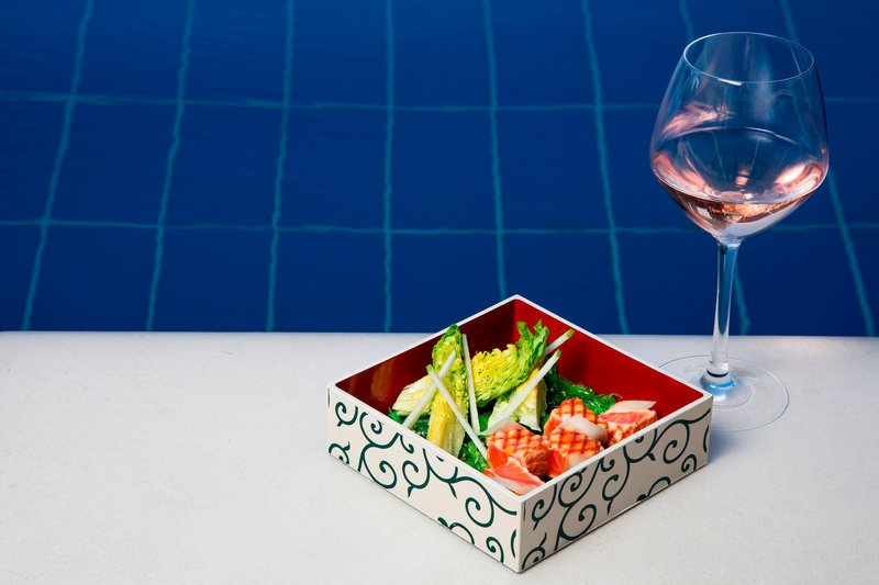 Hotel President Wilson; a Luxury Collection Hotel-Pool Bar - Bento Box & Wine<br/>Image from Leonardo