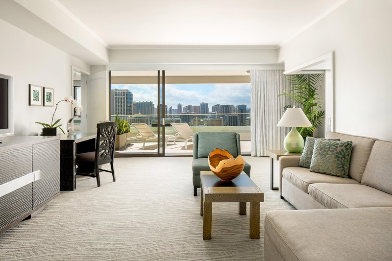 Moana Surfrider, A Westin Resort & Spa, Waikiki Beach - Penthouse Skyline Living Room <br/>Image from Leonardo
