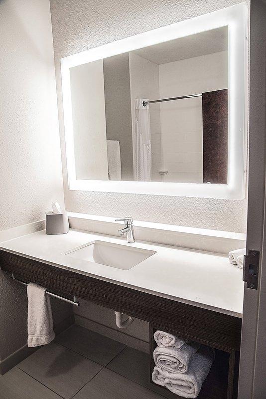 Holiday Inn Express & Suites Alexandria-Guest Bathroom<br/>Image from Leonardo