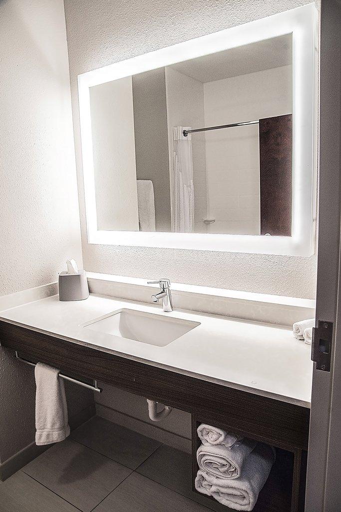 Holiday Inn Express &amp; Suites Alexandria-Guest Bathroom<br/>Image from Leonardo