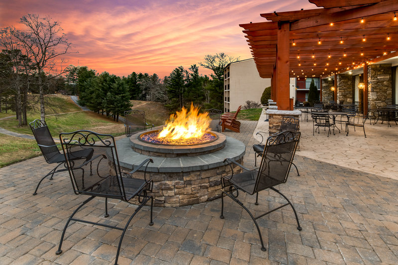 Crowne Plaza Resort Asheville-What's better than enjoying a sunset by the firepit?<br/>Image from Leonardo