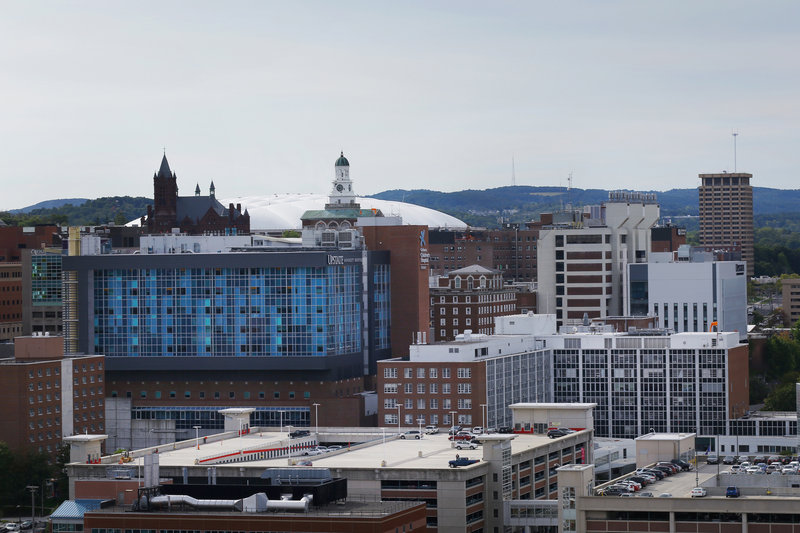 Crowne Plaza Syracuse-The Crowne Plaza offers a breathtaking view of Syracuse University<br/>Image from Leonardo