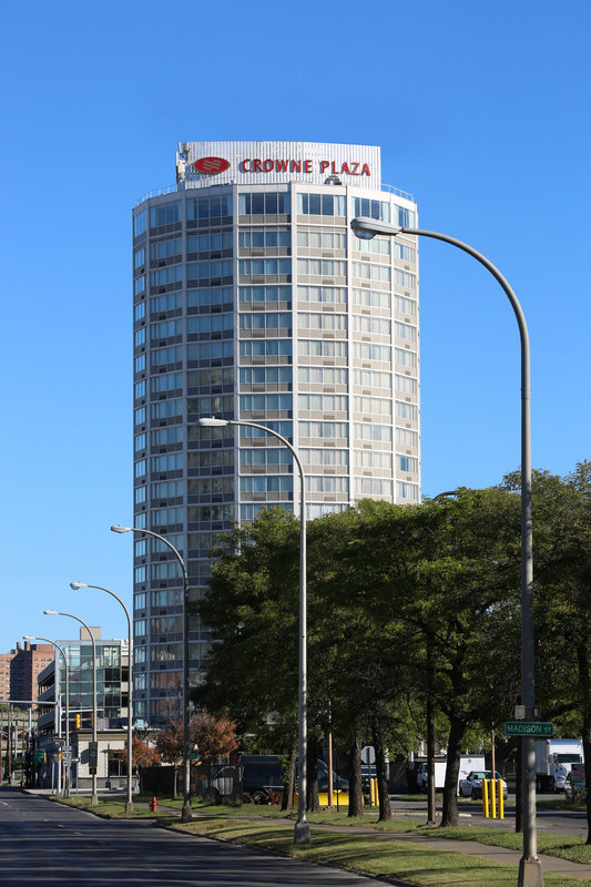 Crowne Plaza Syracuse-Hotel Exterior<br/>Image from Leonardo
