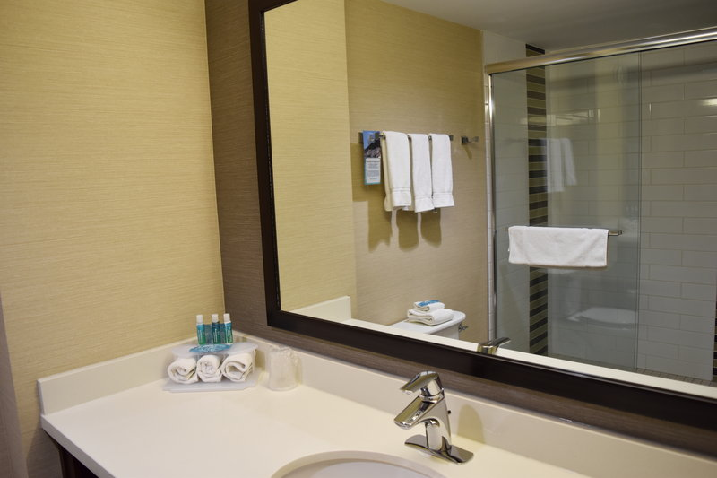 Holiday Inn Express Golden-Kicking Horse-Spacious Bathrooms<br/>Image from Leonardo