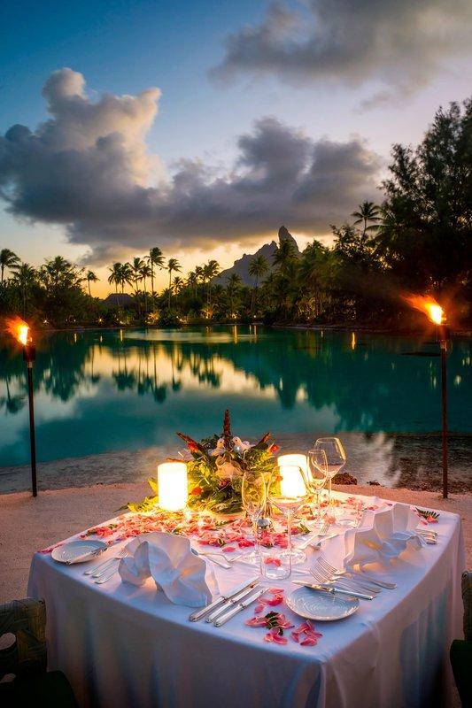 St Regis Resort Bora Bora - Candlelight Dinner <br/>Image from Leonardo