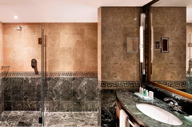 Hotel President Wilson; a Luxury Collection Hotel-Guest Bathroom – Walk-In Shower<br/>Image from Leonardo
