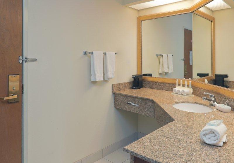 Holiday Inn Express Evansville - West-Guest Bathroom<br/>Image from Leonardo