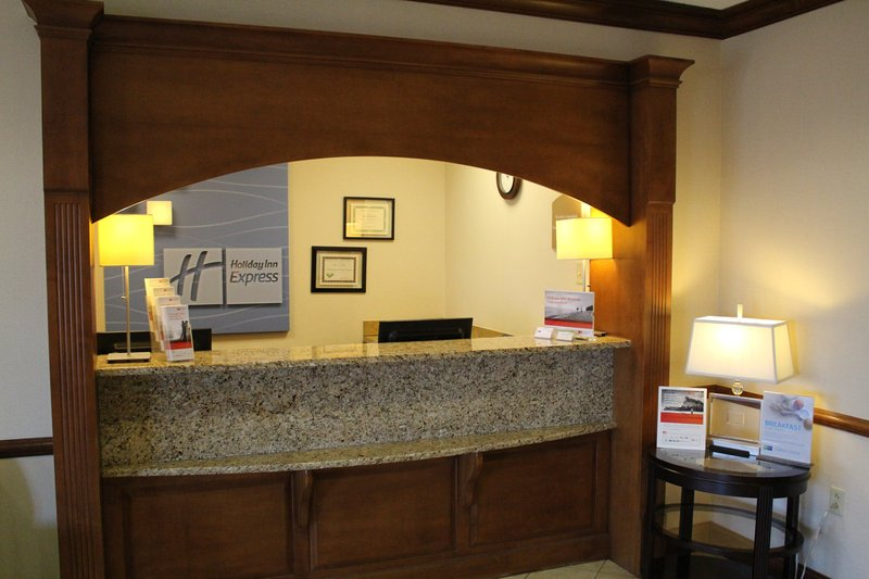 Holiday Inn Express Evansville - West-Front Desk<br/>Image from Leonardo