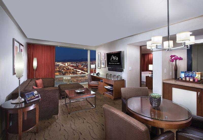 Aria Resort and Casino - Corner Suite Living Room <br/>Image from Leonardo