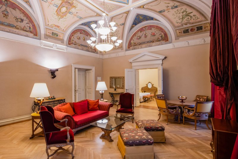 Carlo IV, Dedica Anthology Autograph Collection - Carlo IV Suite - Living Room <br/>Image from Leonardo