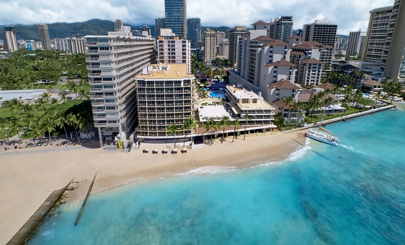 Outrigger Reef Waikiki Beach Resort - Aerial <br/>Image from Leonardo