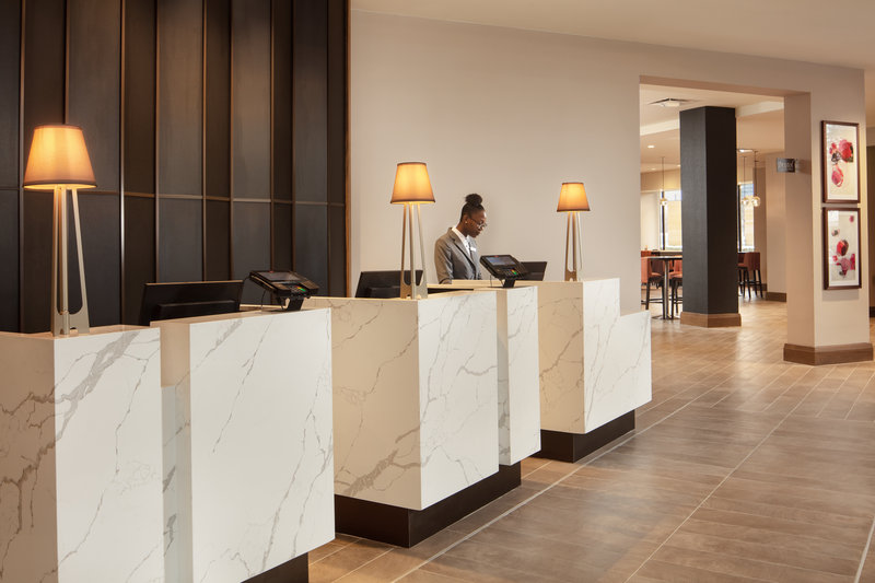 Crowne Plaza Dallas Market Center-Enjoy a quick and easy check-in process after a day of travels.<br/>Image from Leonardo