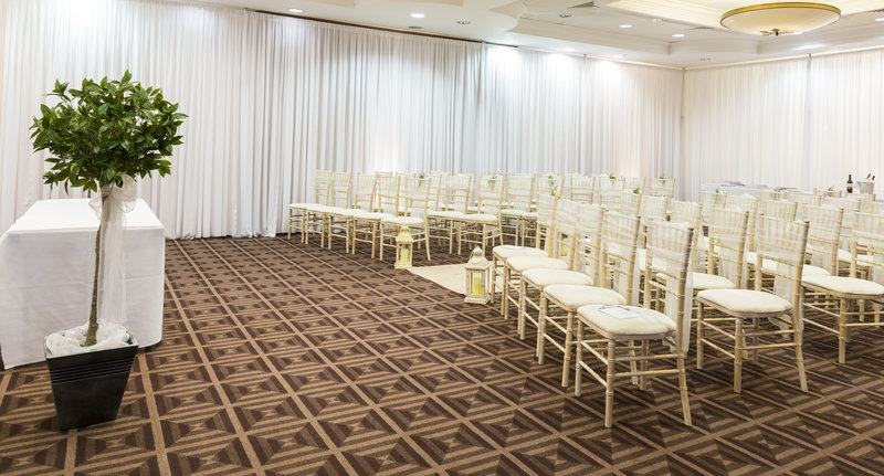 Holiday Inn Newcastle-Jesmond-Wedding ceremony set up<br/>Image from Leonardo