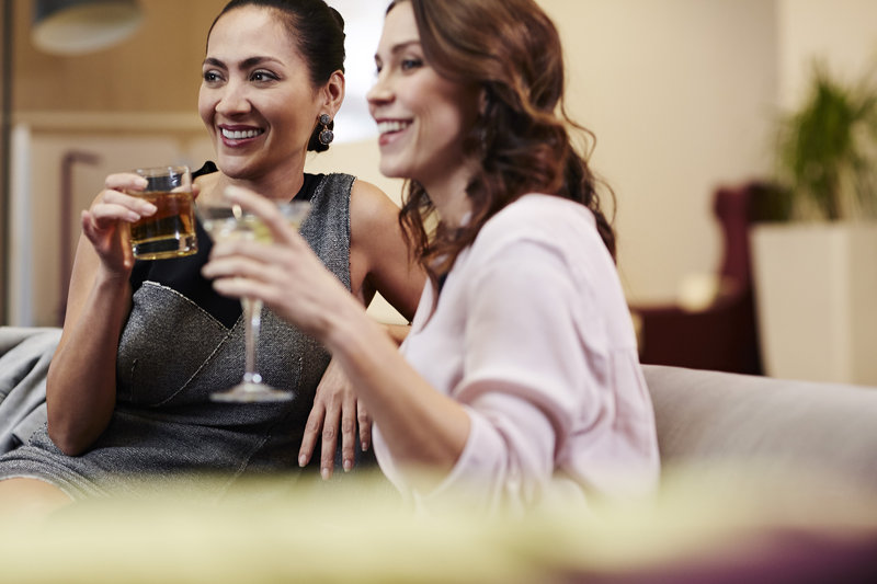 Crowne Plaza Resort Asheville-Relaxing is always better with friends - old or new!<br/>Image from Leonardo