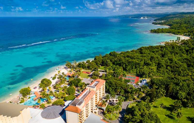 Jewel Dunns River Adult Beach Resort -Beach Aerial<br/>Image from Leonardo