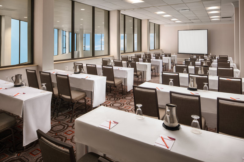 Crowne Plaza Dallas Market Center-Bright windows and LED lighting set the scene for meetings.<br/>Image from Leonardo