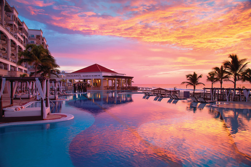 Hyatt Zilara Cancun - Main Pool at Sunset <br/>Image from Leonardo