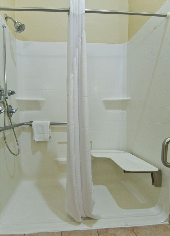 Holiday Inn Hotel & Suites Lake Charles South-Accessible Guest Bathroom (Roll-in Shower)<br/>Image from Leonardo
