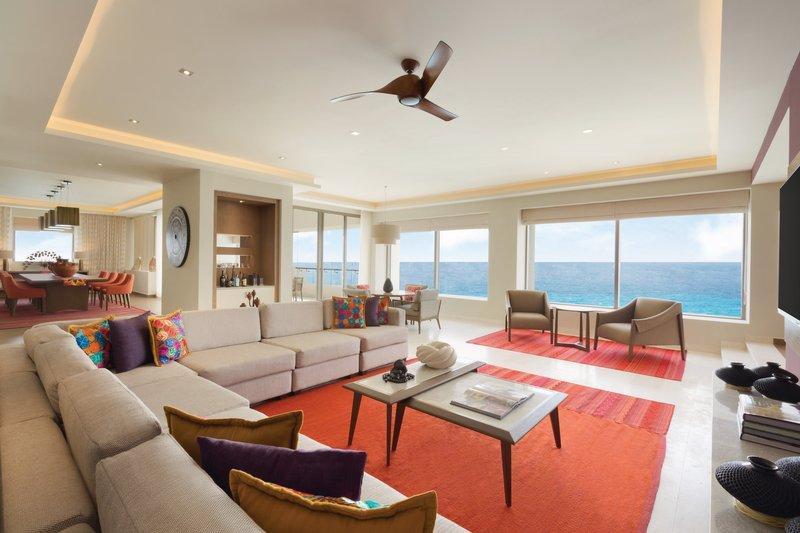 Hyatt Ziva Cancun  - Hyatt Ziva Cancun Presidential Suite Living Area <br/>Image from Leonardo