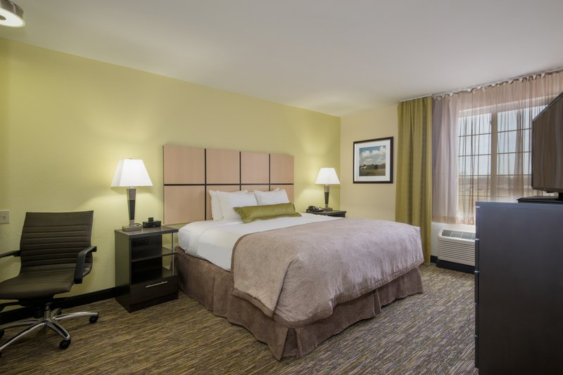 Candlewood Suites Midwest City-One Bedroom King Suite Bedroom<br/>Image from Leonardo