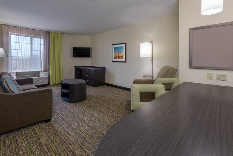 Candlewood Suites Midwest City-One Bedroom King Suite Living Area<br/>Image from Leonardo