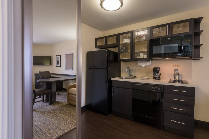Candlewood Suites Midwest City-Two Queen Studio Suite Kitchen area<br/>Image from Leonardo