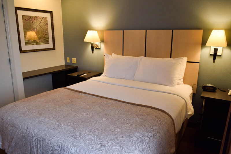 Candlewood Suites Wichita-Airport-Sleep soundly in our queen size bed!<br/>Image from Leonardo