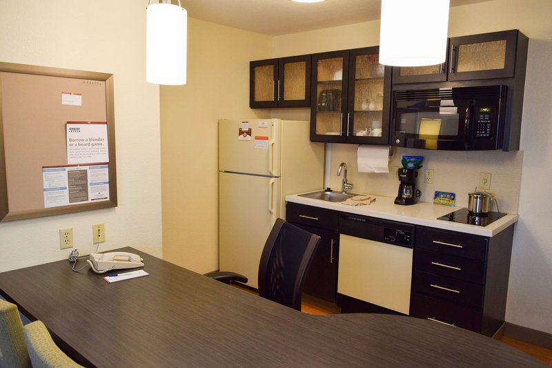 Candlewood Suites Wichita-Airport-Spacious kitchen with storage space for long term stays<br/>Image from Leonardo