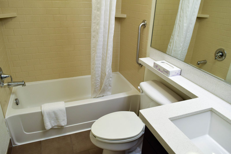 Candlewood Suites Wichita-Airport-Spacious bathrooms with good countertop space!<br/>Image from Leonardo