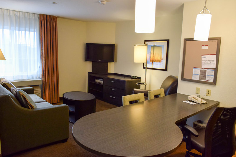 Candlewood Suites Wichita-Airport-Our one bedroom suite with plenty of living space!<br/>Image from Leonardo