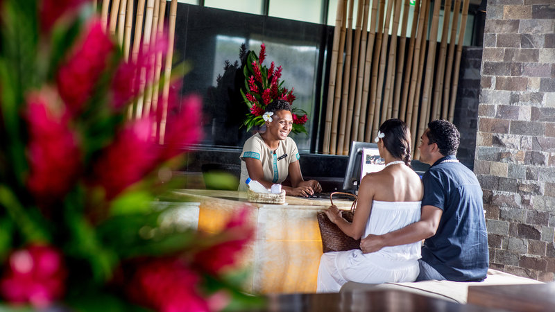 InterContinental Fiji Golf Resort & Spa-Checking in at the Front Desk<br/>Image from Leonardo