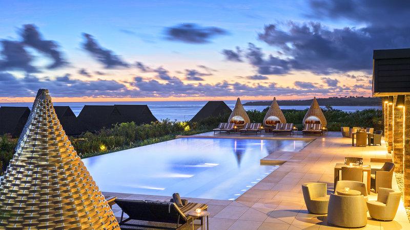 InterContinental Fiji Golf Resort & Spa-Club Lounge Infinity Pool - Evening<br/>Image from Leonardo