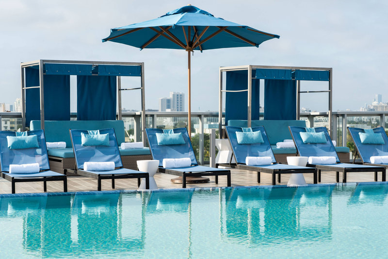 AC Hotel Miami Beach-Outdoor Rooftop Pool Cabanas<br/>Image from Leonardo
