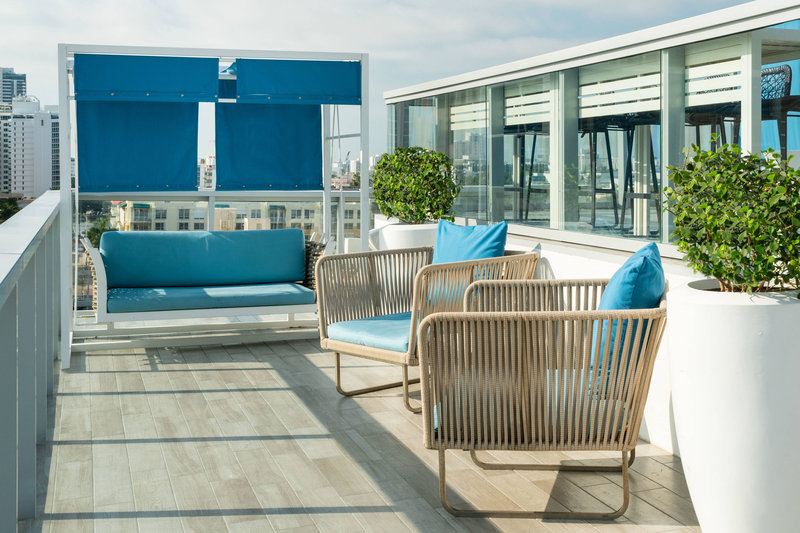 AC Hotel Miami Beach-Rooftop Pool Lower Deck<br/>Image from Leonardo
