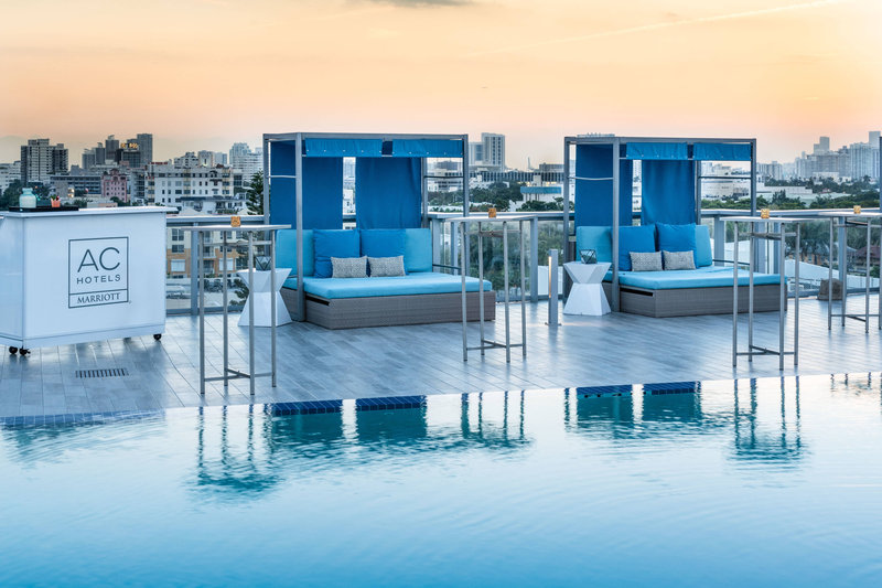 AC Hotel Miami Beach-Rooftop Pool Sunset<br/>Image from Leonardo