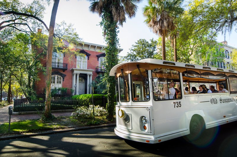 Holiday Inn Savannah Historic District-Explore Historic Savannah on an Old Savannah Trolley Tours<br/>Image from Leonardo