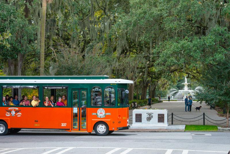Holiday Inn Savannah Historic District-Sight-see your way through Savannah on a trolley tour<br/>Image from Leonardo
