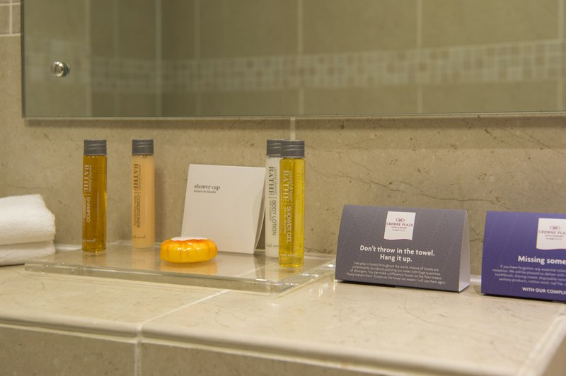 Holiday Inn Sheffield-Bathroom Amenities in Superior and Deluxe rooms<br/>Image from Leonardo